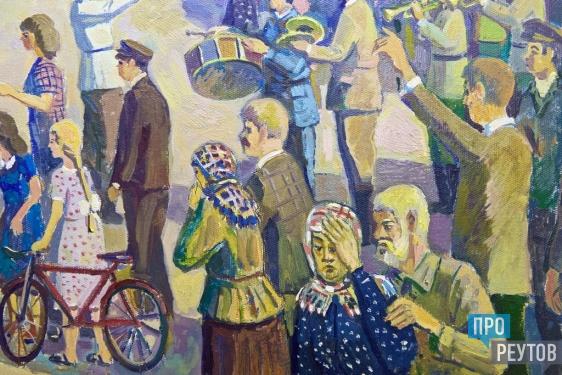 Художник Сергей Цыганов передал картину в военный музей Реутова. На холсте запечатлен проводы реутовских ополченцев в июле 1941 года. ПроРеутов